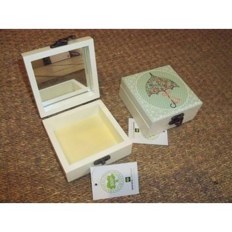 boite bijoux en bois d cor parapluie vert signes grimalt. Black Bedroom Furniture Sets. Home Design Ideas