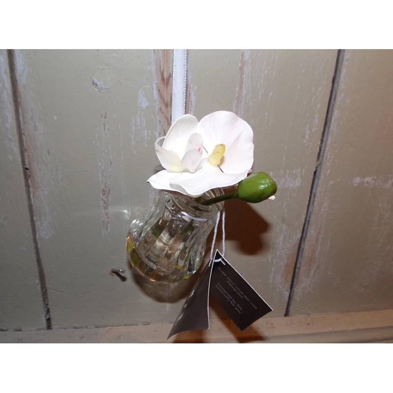 fleur artificielle orchid e dans petit vase en verre. Black Bedroom Furniture Sets. Home Design Ideas