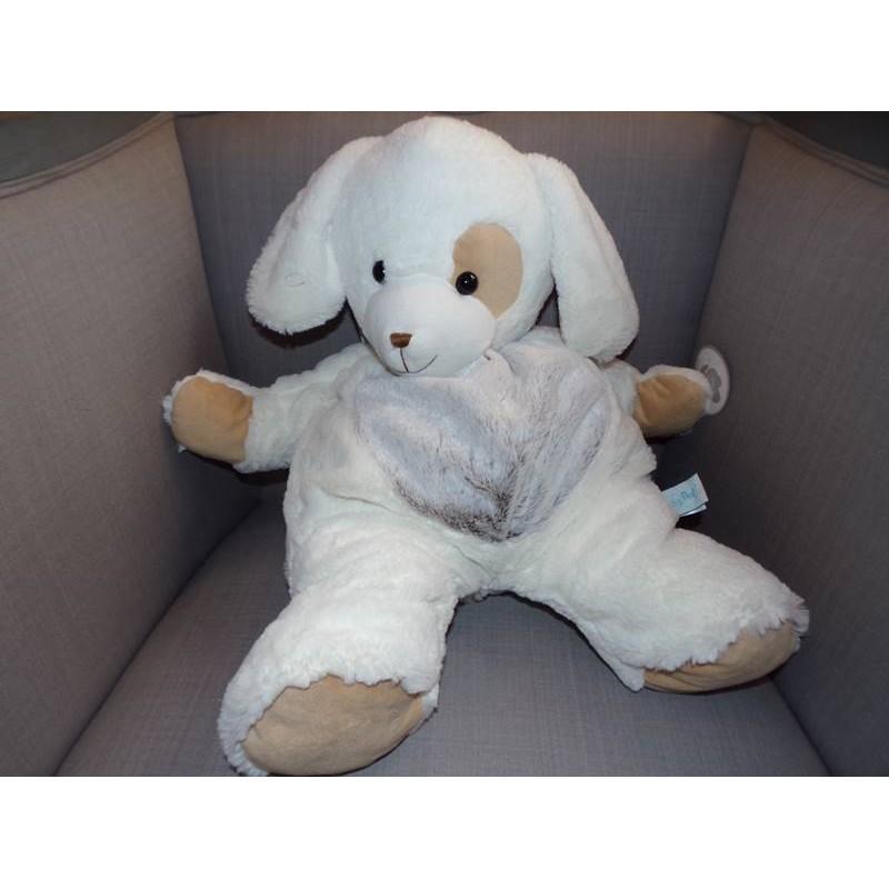 range pyjama chien les flocons beige et blanc babynat bn059. Black Bedroom Furniture Sets. Home Design Ideas