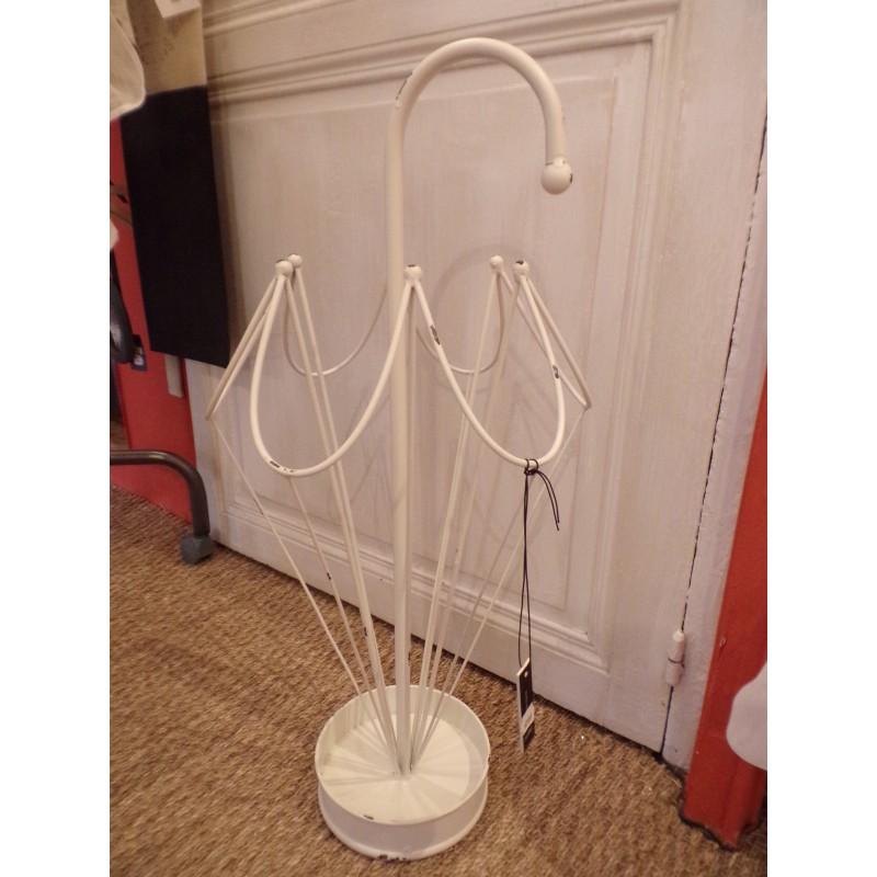 porte parapluie m tal cr me en forme de parapluie de la. Black Bedroom Furniture Sets. Home Design Ideas