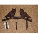 Porte manteaux 3 crochets chouette