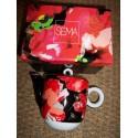 Théière rouge et noir modèle Enzo de la marque Sema