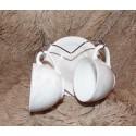 Support métal coeur 2 tasses et sous tasses effet marbre Amadeus