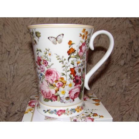 Coffret 1 mug porcelaine chinabones modèle blooming opulence Royal garden