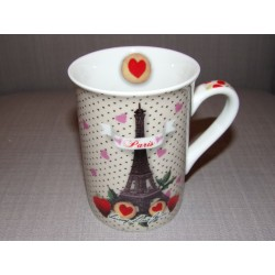 Mug porcelaine modèle Paris gourmand tour eiffel Laissez lucie faire