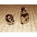 Sel et poivre en forme de chats chrome Aulica