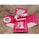 Doudou pantin d'activités chat rose doudou et compagnie DC2573