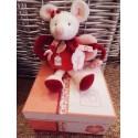 Doudou hochet Clementine la souris rose doudou et compagnie DC2613
