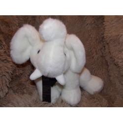 Peluche éléphant blanc grand modèle Histoire d'ours H02506