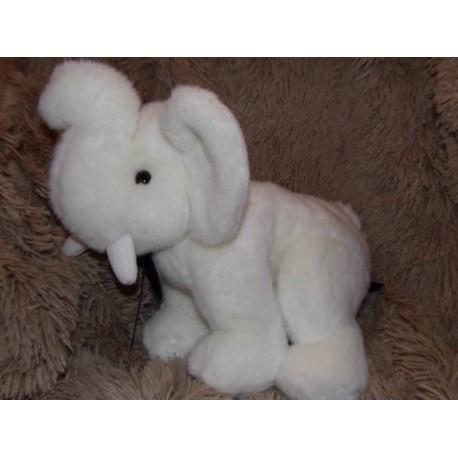 Peluche éléphant blanc petit modèle Histoire d'ours H02504