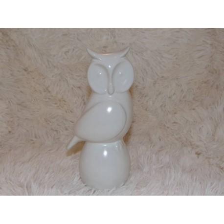 Chouette en céramique blanc Sia