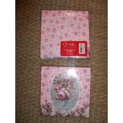 Serviettes en papier 1000 roses  Orval