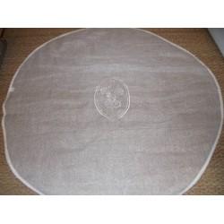 Nappe ronde voilage diamètre 110cm écru médaillon brodé Simla