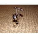 Support chat chrome + 6 piques apéritif pelotes de laine Aulica