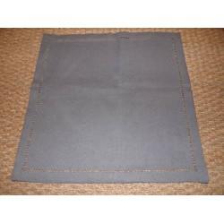 Lot de 6 serviettes infroissables gris foncé uni bord ajouré 40x40cm Simla