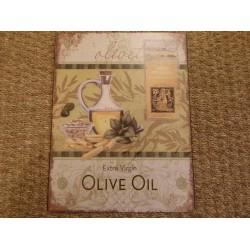 Plaque métal decor huile d'olive Signes grimalt