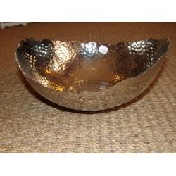 Saladier / coupe martelé bord dentelé Aulica