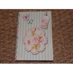 Carnet de notes décor fleurs dans médaillon Signes grimalt