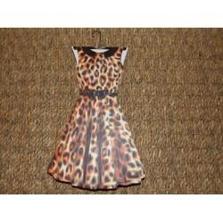 Carnet de notes raffiné forme de robe évasée léopard Royal garden