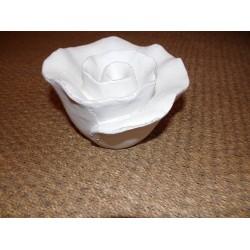 Rose décorative à poser en résine blanche Jolipa