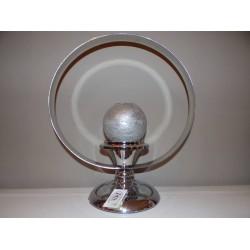 Bougeoir original et moderne métal chrome forme d'auréole Imori