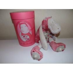 Peluche hippopotame rose Les zazous grand modèle Moulin roty