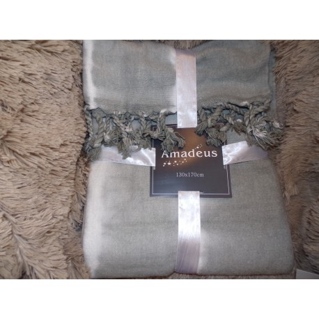 Plaid tie & dye sable Amadeus 130x170cm