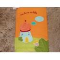 Livre de naissance Moulin roty Balthazar et valentine orange et vert