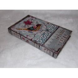 Boite en forme de livre en bois décor oiseau multicolore inscription sweetest dream  n° 191 PM
