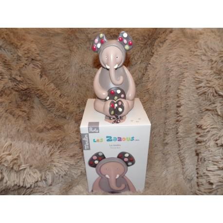 Tirelire éléphant beige modèle Les zazous Moulin roty