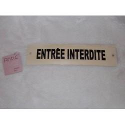 Marque porte Entée interdite Antic line créations