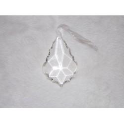 Décoration de noël en verre ciselé forme de goutte Amadeus