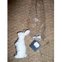 Bougie en forme de lapin blanc laqué décoration pâques