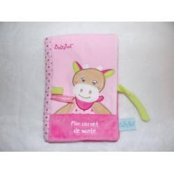 Protège carnet de santé Coquillette la vache rose Babynat BN0175
