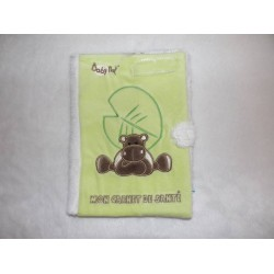 Protège carnet de santé Bazile l'hippopotame vert anis Babynat BN725