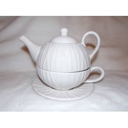 Théière tea for one blanc modèle Amarres Amadeus