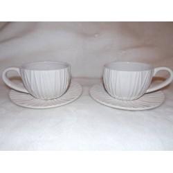 Set 2 tasses et sous tasses à thé modèle Amarres Amadeus