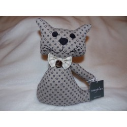 Cale porte chat en tissu taupe décor étoiles modèle Felix Amadeus