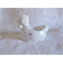 Coquetier en forme de poule porcelaine blanche brillante Amadeus