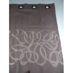 Double rideau taupe Ribbons 130x270cm Sarayo