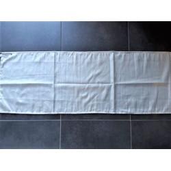 Chemin de table écru argenté 40x150cm Simla