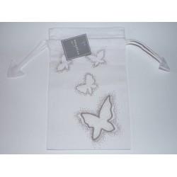 Sac lingerie blanc taupe Envolée papillons Amadeus