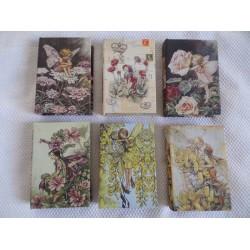 Boite en forme de livre en bois décor elf roses blanches et papillon n° 20
