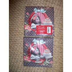 Serviettes en papier décor rétro fillette et gateau modèle péché mignon Orval