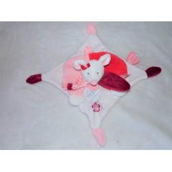 """Doudou """"Clémentine la souris"""" rose et blanc Doudou et Compagnie DC2614"""