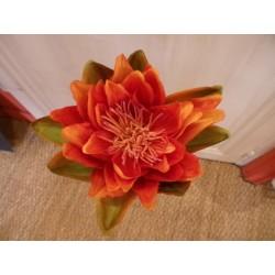 Fleur de lotus artificielle orange Jolipa