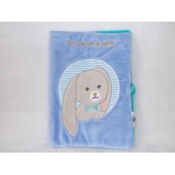 Protège carnet de santé Pom le lapin bleu Babynat BN0255