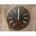 Horloge Industrielle Amadeus 39 cm mecanisme apparent, contour metal bronze
