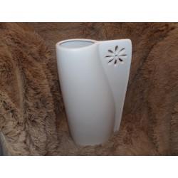 Grand vase blanc céramique mat modèle empreinte Amadeus