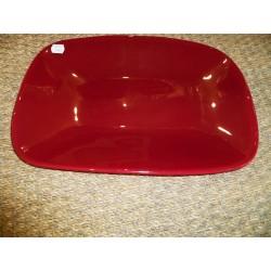 Plat rectangulaire en verre rouge modèle Pop Aulica